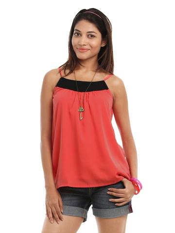 Vero Moda Women Coral Coloured Top