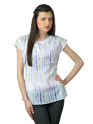 Sepia Women White Printed Top