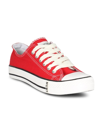 Numero Uno Men's Canvas Red Shoe