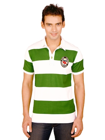 United Colors of Benetton Men White Polo T-shirt