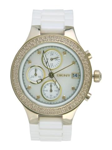 DKNY Women White Dial Chronograph Watch NY8102