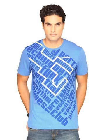 Adidas Men's Prt Blue T-shirt