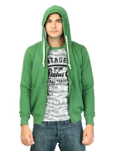 Status Quo Men Solid Green Sweatshirt