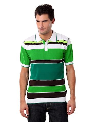 Wills Lifetsyle Men Green Polo T-shirt