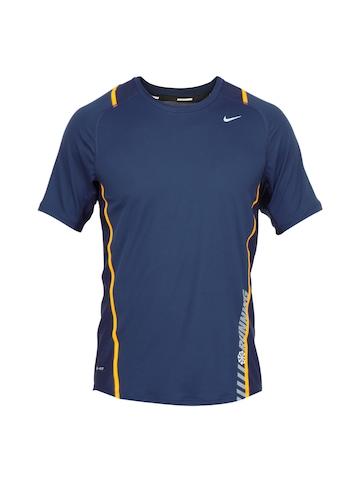 Nike Men Navy Blue T-shirt