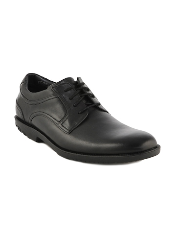 Rockport Men Drsp Plaintoe Black Formal Shoes