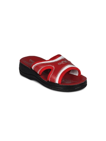Footfun Kids Unisex Red Sandals