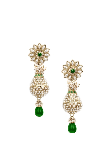 Royal Diadem Green Earrings