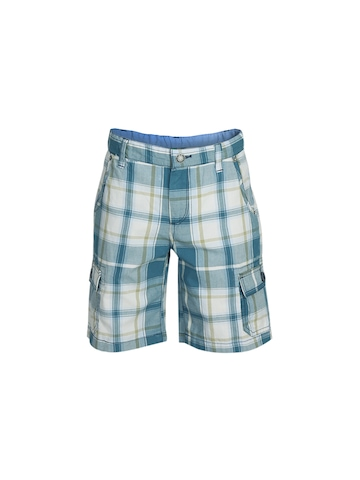 United Colors of Benetton Boys Check Blue Shorts