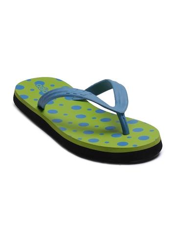 Adidas Women Polka Green Flip Flops