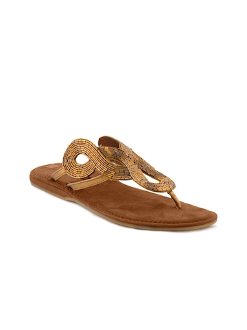 Inc 5 Women Casual Gold Flats