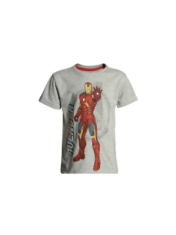 Avengers Boys Grey Printed T-shirt