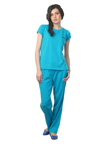Femella Women Blue Nightdress