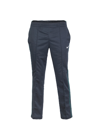 Nike Men Pintuck Navy Blue Track Pants