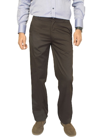 Basics Men Brown Trousers