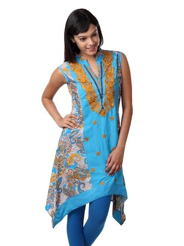 ALayna Women Blue Kurta