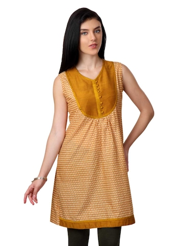 ALayna Women Brown Kurta