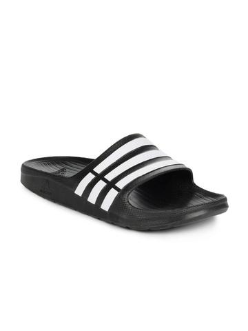 Adidas Men Black Duramo Slide Flip Flops