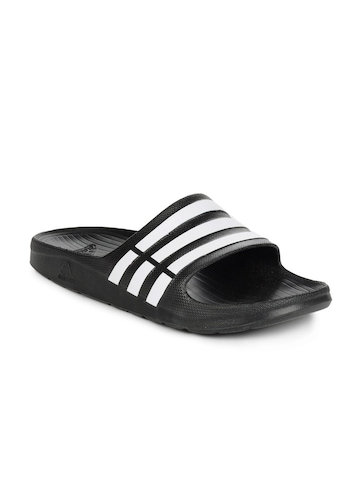 Adidas Men Black Duramo Slide Flip Flops