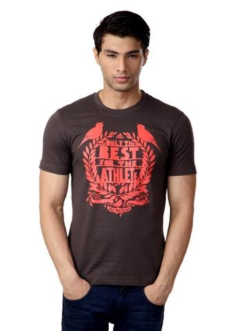 Adidas Men Brown T-shirt