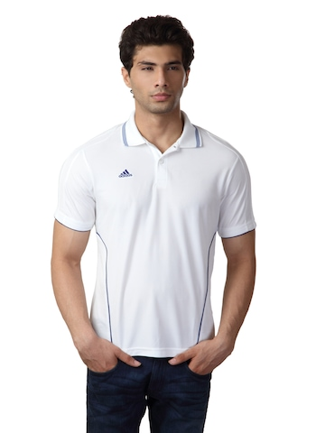 Adidas Men White T-shirt