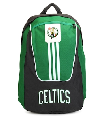 Adidas Unisex Black & Green Backpack