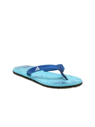 Adidas Women Blue Flip Flops
