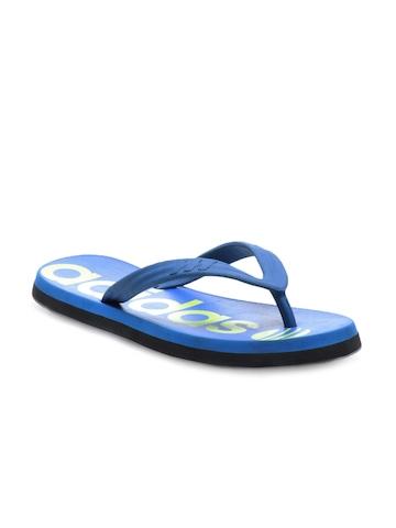 Adidas Women Blue Neo Tread Flip Flops