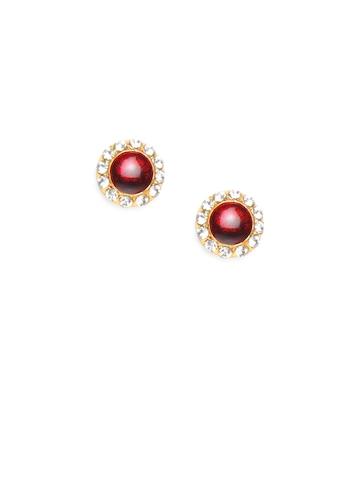 Adrika Maroon Earrings