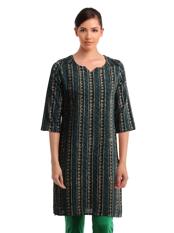 Alma Women Green Kurta