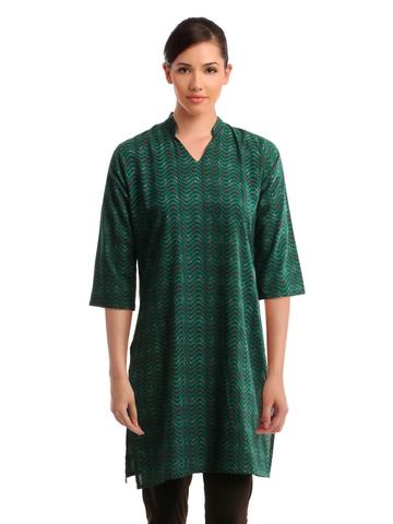 Alma Women Green Kurta