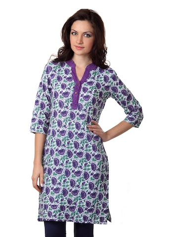 Alma Women Purple Kurta