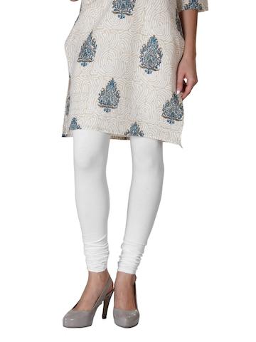 Alma Women White Leggings