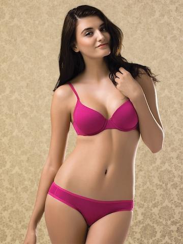 Amante Pink Push-Up Bra BFCV11