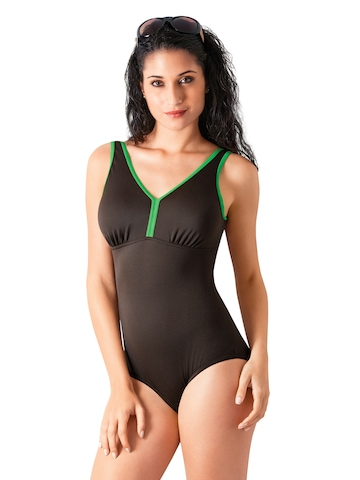 Amante Brown & Green Swimsuit WCSD03