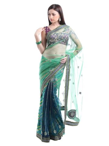 Ambica Green One Minute Sari