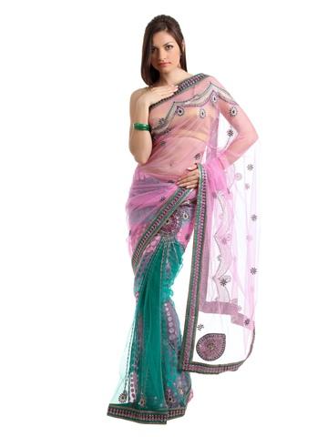 Ambica Pink One Minute Sari