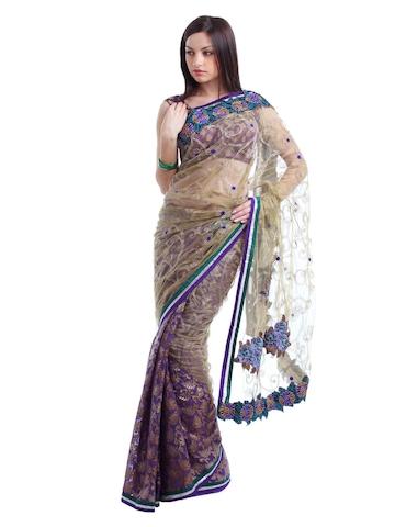 Ambica Purple Sari
