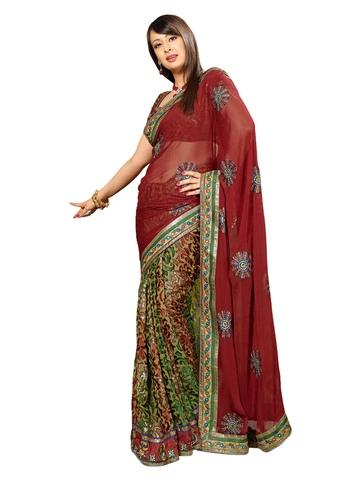 Ambica Red Sari