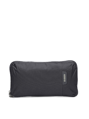 American Tourister Men Black Waist Pouch
