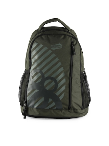 American Tourister Unisex Casual Olive Backpack