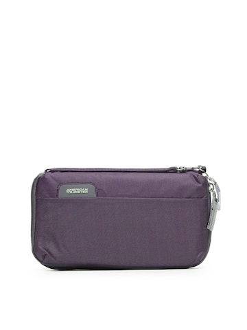 American Tourister Unisex Purple Passport Holder