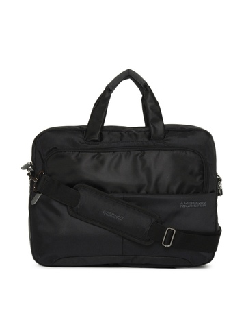 American Tourister Unisex Black Laptop Bag