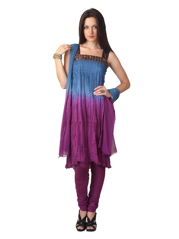 Aneri Women Purple Salwar Suit
