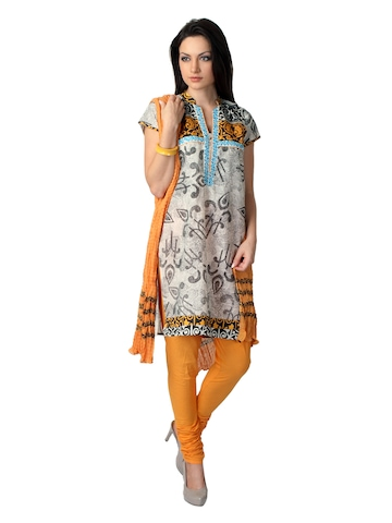 Aneri Women Multi Coloured Salwar Suit