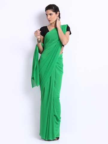 Anouk Green Marble Chiffon Fashion Saree