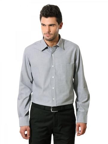 Arrow Men Auto Press Grey Shirt