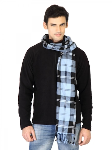 Arrow Men Blue Check Scarf