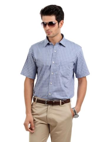 Arrow Men Grey Check Slim Fit Shirt