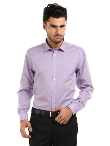 Arrow Men Lavender Unstainable Slim Fit Shirt